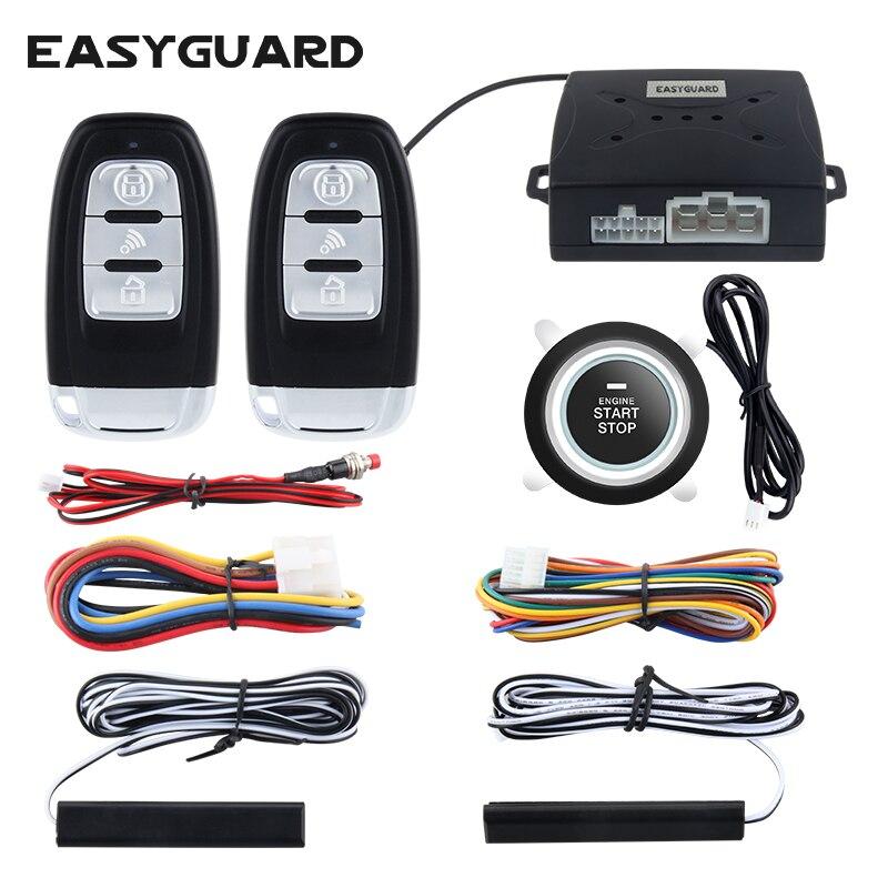 Универсальная автомобильная сигнализация EASYGUARD, пассивная бесключевая система запуска и остановки двигателя, 12 в пост. Тока