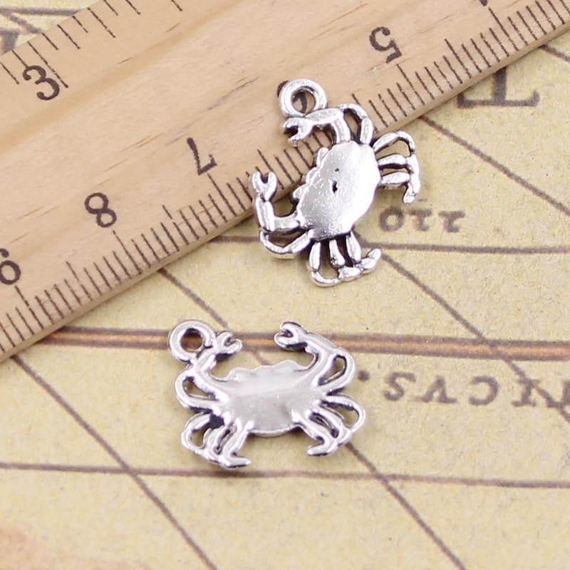 15pcs/lot Charms Crab 15x16mm Tibetan Pendants Antique Jewelry Making DIY Handmade Craft For Bracelet Necklace