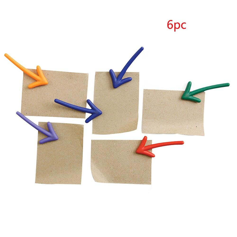 6 uds. Pegatinas magnéticas de flecha de imán de nevera prácticos accesorios de pizarra blanca tablero de refrigerador mensaje duradero colorido portátil