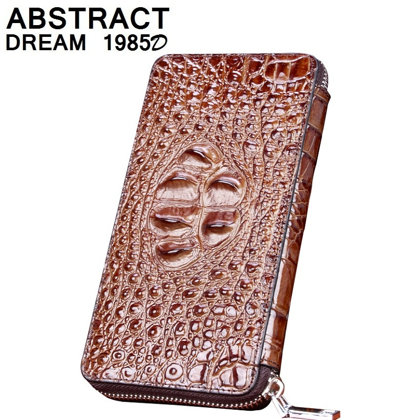 men wallet real Alligator Leather wallet designer men's Classic wallet new High-end business luxury purse fashion vintage Clutch