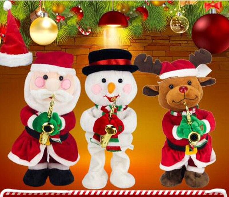 Muñeco eléctrico Twerk de navidad para niños, gorro de Papá Noel, ciervo,...