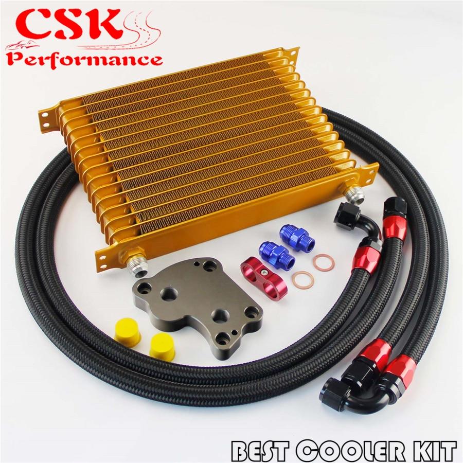 AN10 15 filas en Kit enfriador de aceite se adapta para BMW Mini Cooper S R53 sobrealimentador de oro