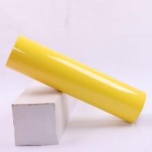 "0.5x25m/20""x83.3ft Lemon Yellow Heat Transfer Vinyl HTV Iron On Transfer Vinyl for DIY T-shirts & Heat Press & Cricut Machine"