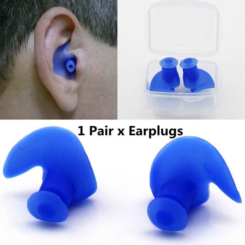 Par de tapones para los oídos Yiwa, tapones para los oídos resistentes al polvo de silicona respetuosos con el medio ambiente, accesorios de buceo y deportes acuáticos