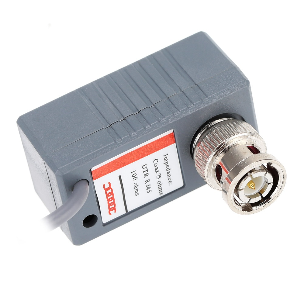 10pcs CCTV Camera Video Balun Transceiver Connector BNC UTP RJ45 Video and Power over CAT5/5E/6 Cable enlarge