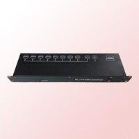 DJ Stage Light Controller DMX512 Splitter DMX Light Signal Amplifier Splitter 8 way DMX Distributor for stage Equipments