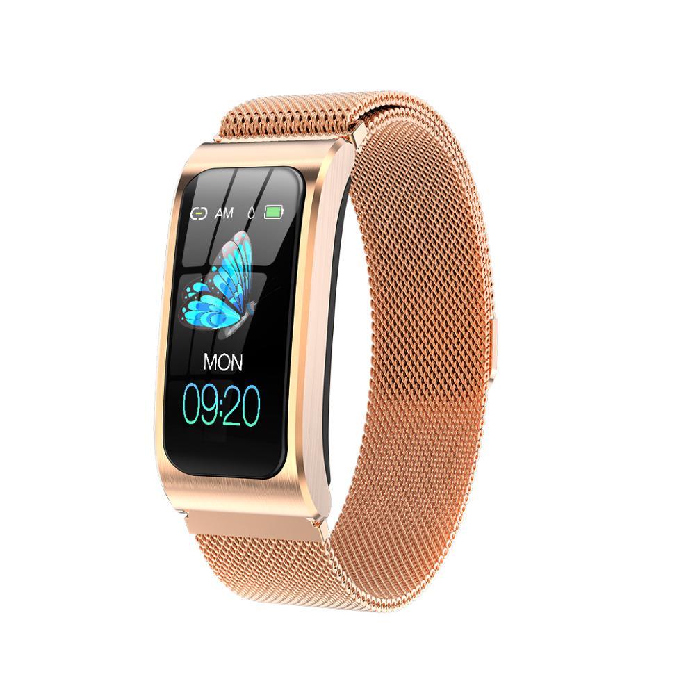 "AK12 נשים smart watch 1.14 ""IP68 עמיד למים לב שיעור סטופר שעון מעורר גשש כושר לשחות שעונים pk X3 S2 אנדרואיד IOS"