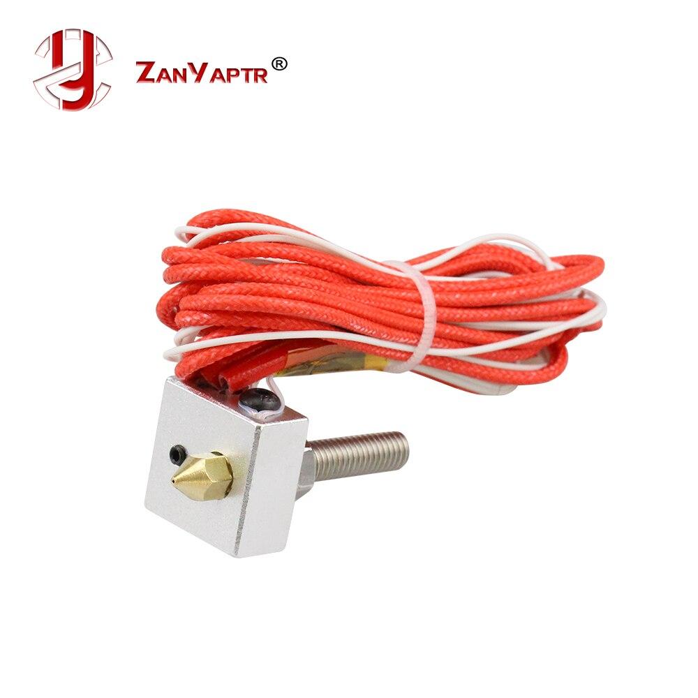 Комплект с горячим наконечником MK7 MK8 0,4 мм, насадка на горло экструдера 12 В 40 Вт, нагреватель, Термистор, алюминиевый нагревательный блок для 3D-принтера