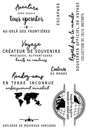 Francês Transparente Selo para Scrapbooking Borracha de Silicone Transparente Álbum de fotos DIY Decoração 001