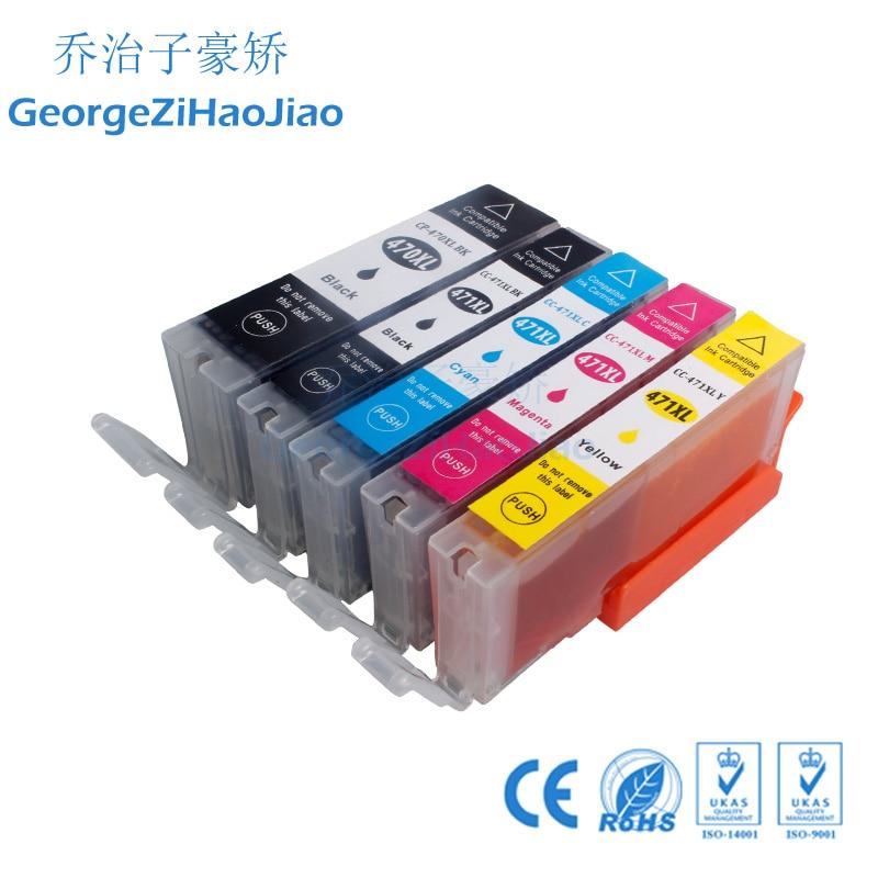 1 juego 470XL cartucho de tinta Compatible para canon PIXMA MG5740 MG6840 MG6840 MG 5740 TS5040 impresora