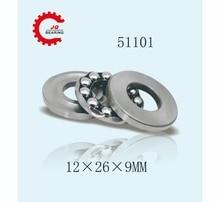 JQ Bearings 10pcs Free Shipping 10 PCS 51101 (12x26x9 mm) Axial Ball Thrust Bearing (12mm x 26mm x 9mm)