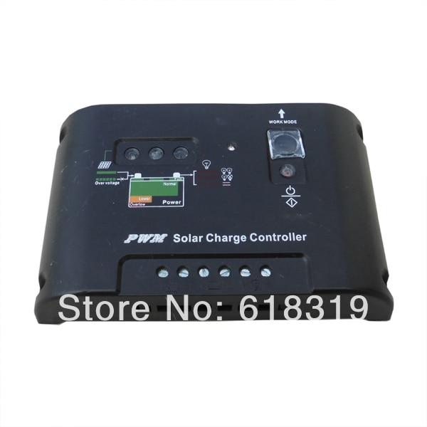 5 pcs 10a 12v24v solar controlador pv sistema de carga da bateria do painel solar preto