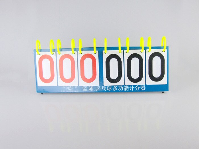Marcador multiusos de 6 dígitos Indicador de puntuación para tenis de mesa/baloncesto/Pingpong