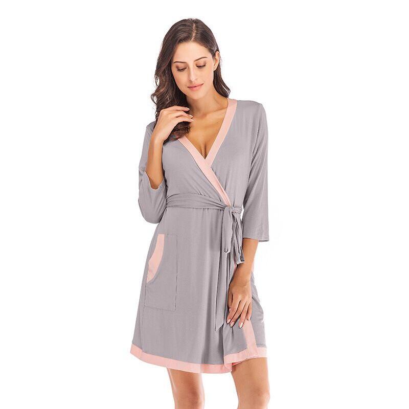 Camisola kimono feminina, roupão de banho modal macio, camisola sexy feminina para verão 2020