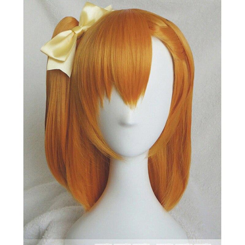 ¡Honoka Kosaka Cosplay peluca LoveLive! Pelucas adultas de juego de disfraces Love Live pelo de Anime de Halloween + gorro de peluca
