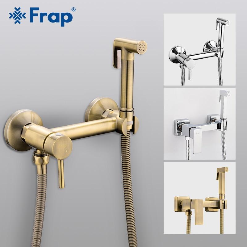 FRAP Bidets-رأس دش حمام ، بخاخ تنظيف شرجي صحي ، خلاط ساخن وبارد ، طقم رش المرحاض ، صنبور بيديت إسلامي
