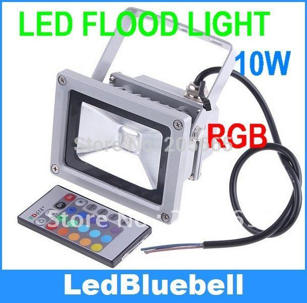 10W Waterproof Floodlight Landscape Lamp RGB Outdoor LED Flood Lamp Free Shipping