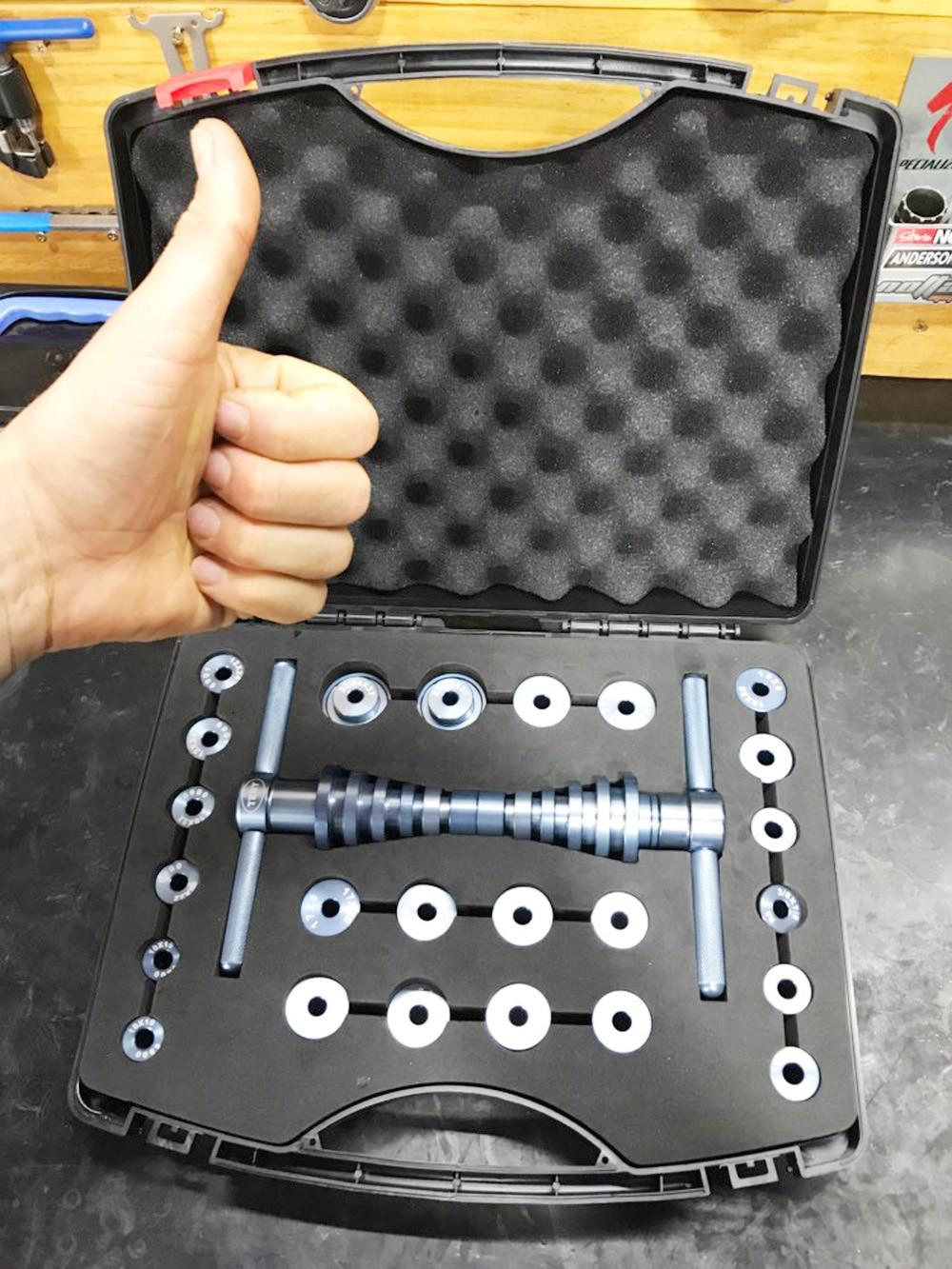 Bicicleta suporte inferior hub da bicicleta bb eixo rolamento remoção imprensa kit de ferramentas instalação conjunto mão