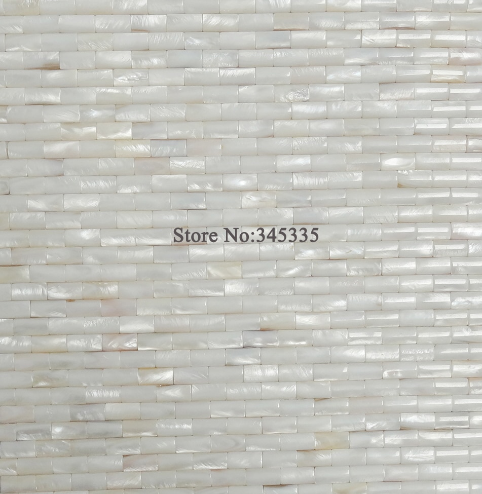 11PCS White convex strip shell mosaic tile mother of pearl wallpaper kitchen bathroom backsplash tiles building construction