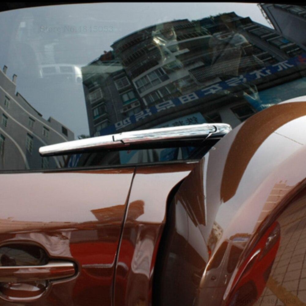 Para toyota rav4 rav 4 carro abs chrome janela traseira cauda windscreen guarnição capa limpador traseiro limpo decore moldagem 2009 2010 2011 2012