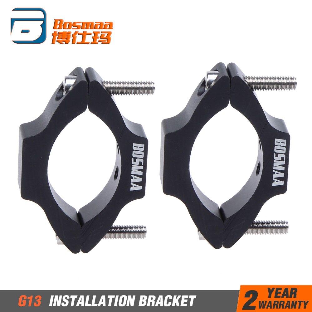 2sets BOSMAA G11/G13 Motorrad Scheinwerfer Montage Halterung Umzug Schellen Fahren Jagd Licht Halter Für 22-54mm Rohr Gabel