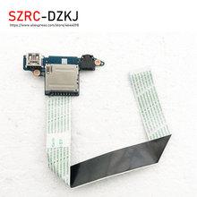 SZRCDZKJ جديد الأصلي لينوفو IdeaPad Z510 قارئ بطاقة USB الصوت مجلس مع كابل AILZA NS-A182