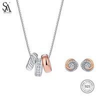 2018 special offer sale sieraden sa silverage 925 sterling jewelry sets necklaces pendants stud earrings fine necklace women