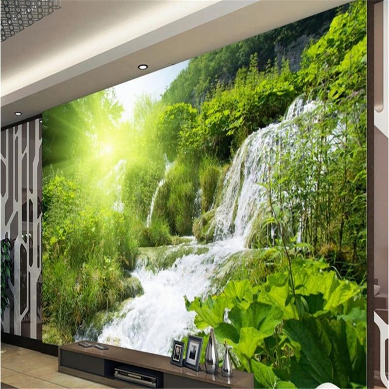 Fondos de pantalla personalizados grandes de beibehang paisaje exterior cascadas mural fondo de pared papel de parede infantil menino