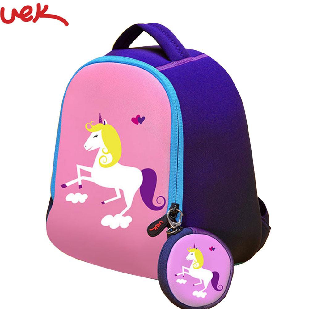 Mochila para niños con estampado de unicornio, Mochila para niños y niñas, Mochila para escuela de animales, Mochila para preescolar, Mochila para niños A2277