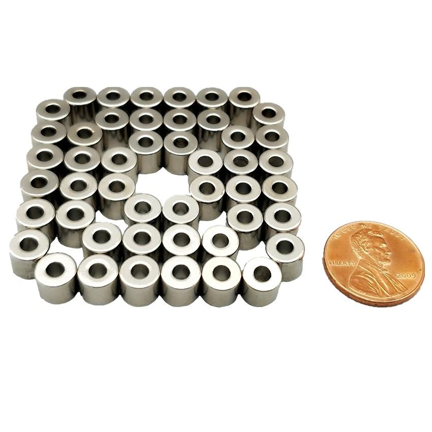 200pcs Diametrically NdFeB Magnet Ring Dia. 7.2x3x6.3 mm Tube Magnetized N40M Strong Neodymium Permanent Rare Earth Magnets