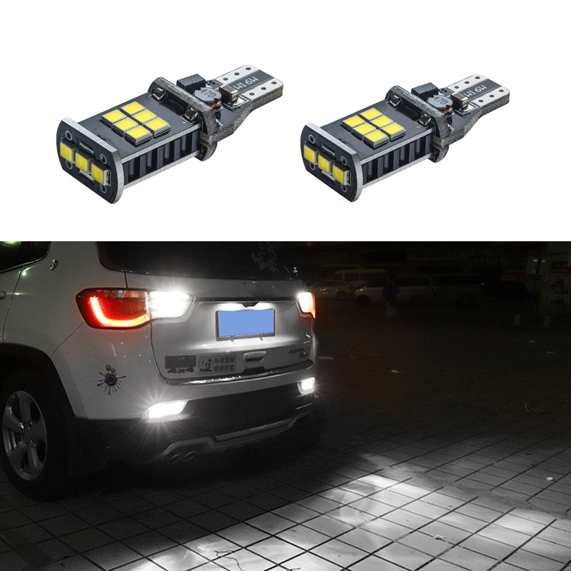 2x canbus t15 w16w 912 921 lâmpada led 2835 smd super brilhante carro back up reverso luzes branco para volkswagen vw passat b7