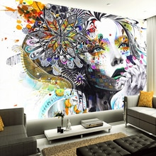 Papel pintado Mural 3D personalizado Color abstracto figuras De arte pared De fotos Mural KTV Bar galería hotel temático telón De fondo Papel De pared