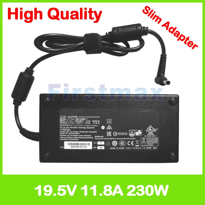 19,5 V 11.8A адаптер переменного тока зарядное устройство для ноутбука Asus ROG Strix GL502VS G502VS GL502VSK FX502VS G502VSK 0A001-00390900