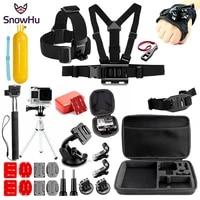 snowhu for for gopro accessories set for go pro hero 9 8 7 6 5 4 kit mount for sjcam sj4000 for yi 4k eken h9 camera gs80a