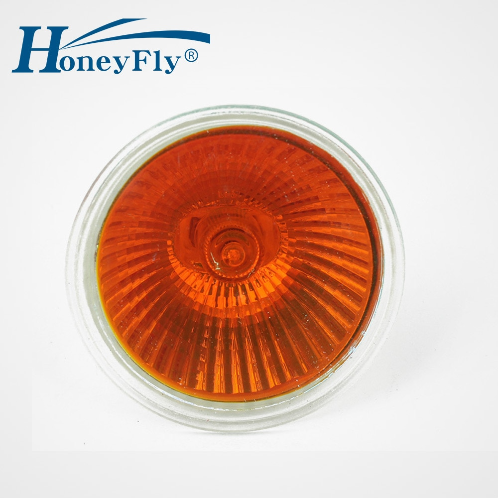 HoneyFly5pcs Orange Flame Lamp 35W/50W 12V/220V GU5.3 JCDR Dimmable Halogen Bulb Spot Light Quartz Furnace Fireplace Lamba