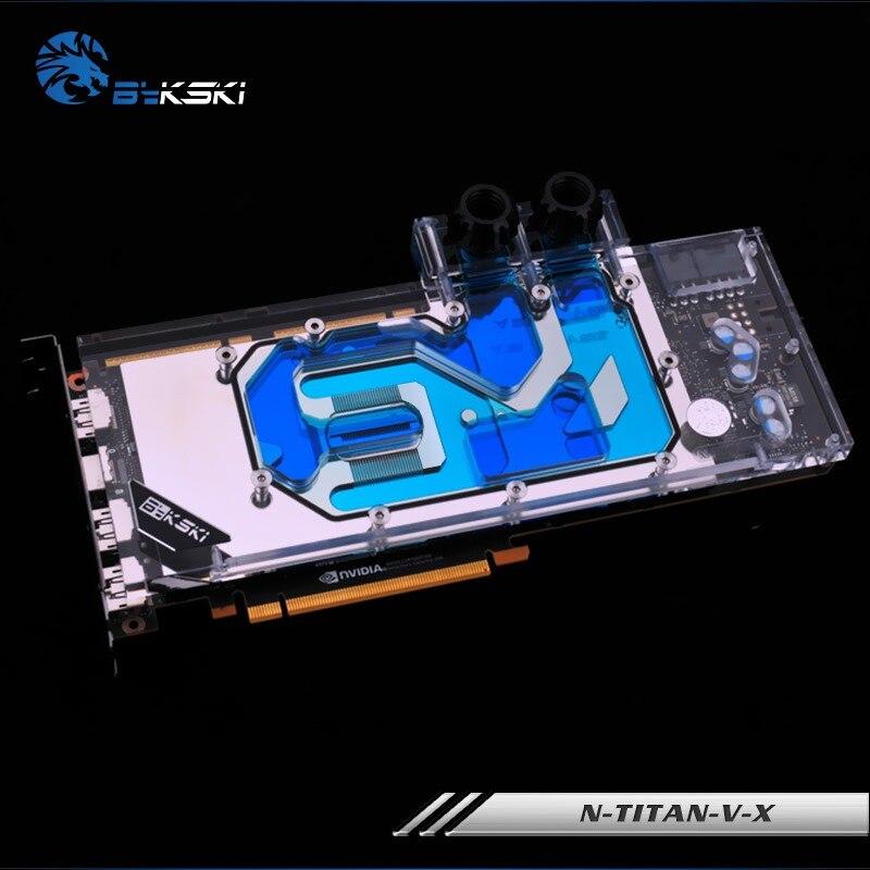 Bykski Full Cover Graphics Card Water Cooling Block use for NVIDIA TITAN V Public Version Radiator Liquid Block N-TITAN-V-X
