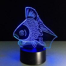 7 couleur changeante veilleuse poisson rouge à collectionner Charizard 3d Led Table lampe de bureau dessin animé Figure enfants lampe de chevet
