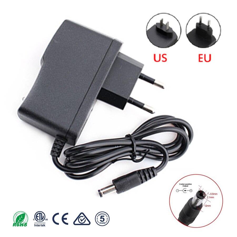 Fuente de alimentación de 9 V, 1A, CA, 220V, adaptador de alimentación de 9 V, Adaptador de enchufe de la UE CC, 9 V, fuente de alimentación de voltaje, tira de led para caja de TV