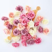 10 teile/los künstliche blume 5cm silk rose kopf für hochzeit party dekoration DIY blume wand sammelalbum geschenk box handwerk