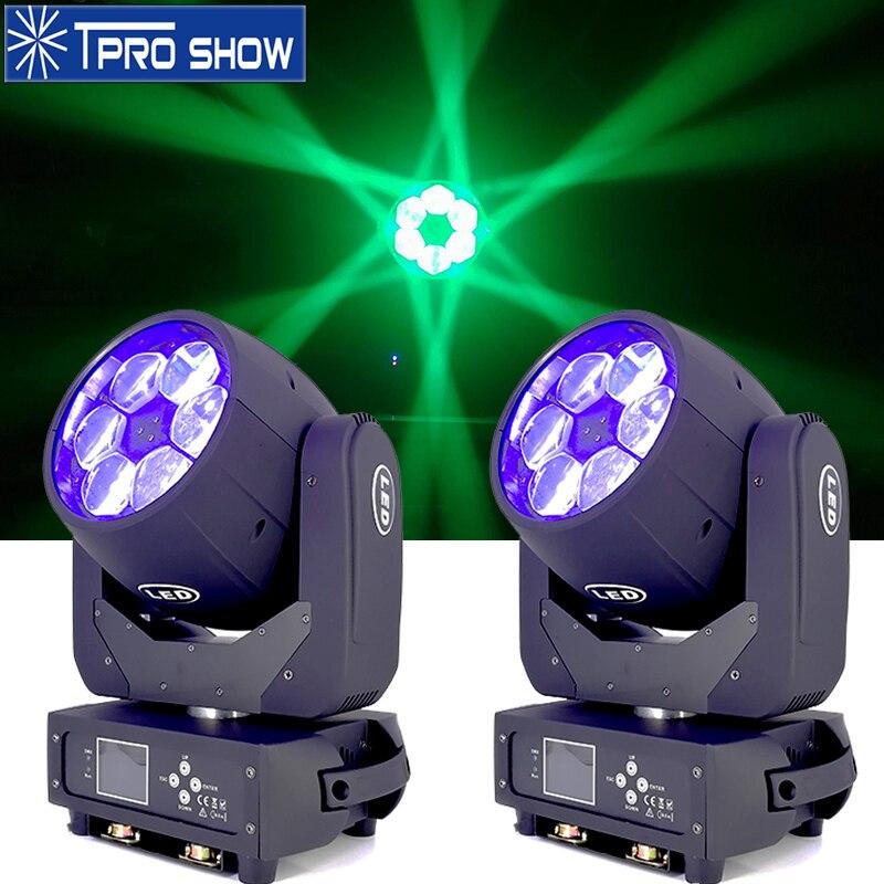 Lyre شعاع 6x40 واط النحل العين تتحرك رئيس ضوء التكبير المرحلة الإضاءة DJ معدات Dmx التحكم RGBW الألوان LED غسل لحفل الزفاف