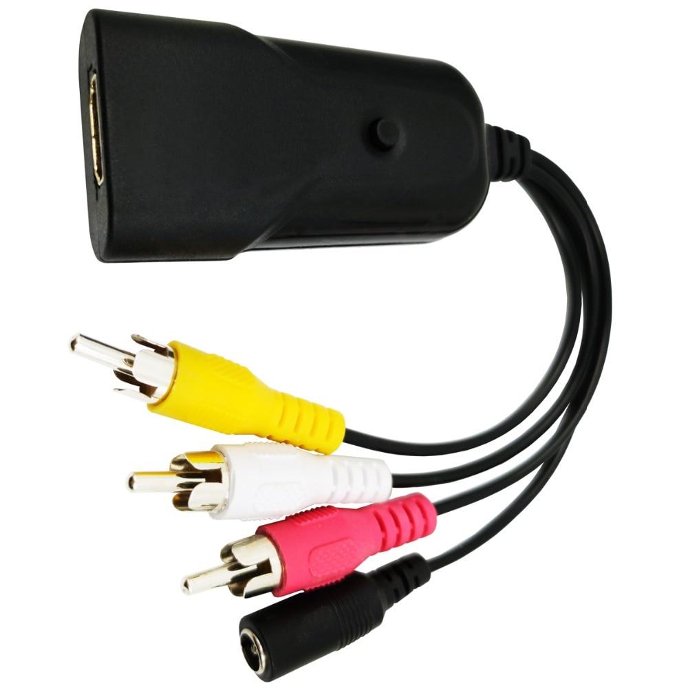 HDMI to AV 1080P Converter Box HDMI to RCA AV/CVSB L/R Component Video Adapter HDMI2AV HD Support NTSC PAL