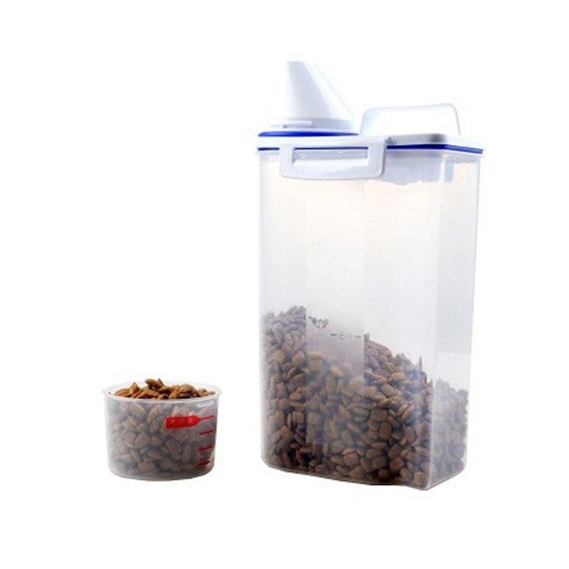 Perro de 2019 contenedores de comida de alimentador de cubos de almacenamiento para mascotas contenedor para alimento para gatos moho Anti-oxidación de gran capacidad a prueba de humedad de la Caja