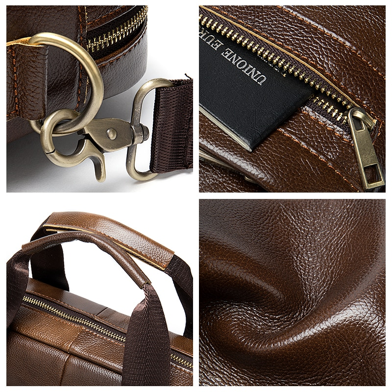 Чанта мъжко куфарче от естествена - Чанти за документи - Снимка 5