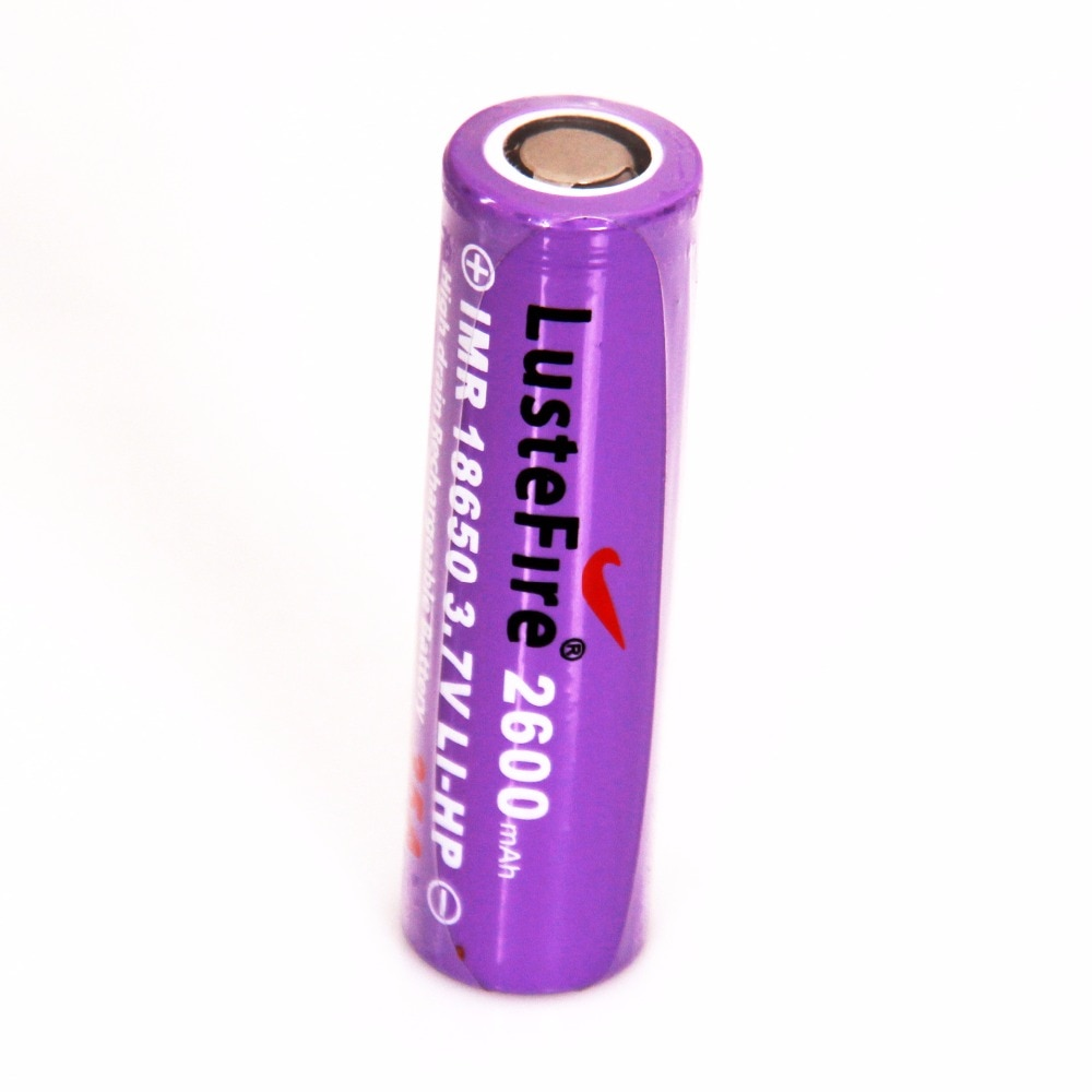 Lustefire 2600mah IMP 18650 3,7 V LI-HP 35A recargable Protector de batería de la batería