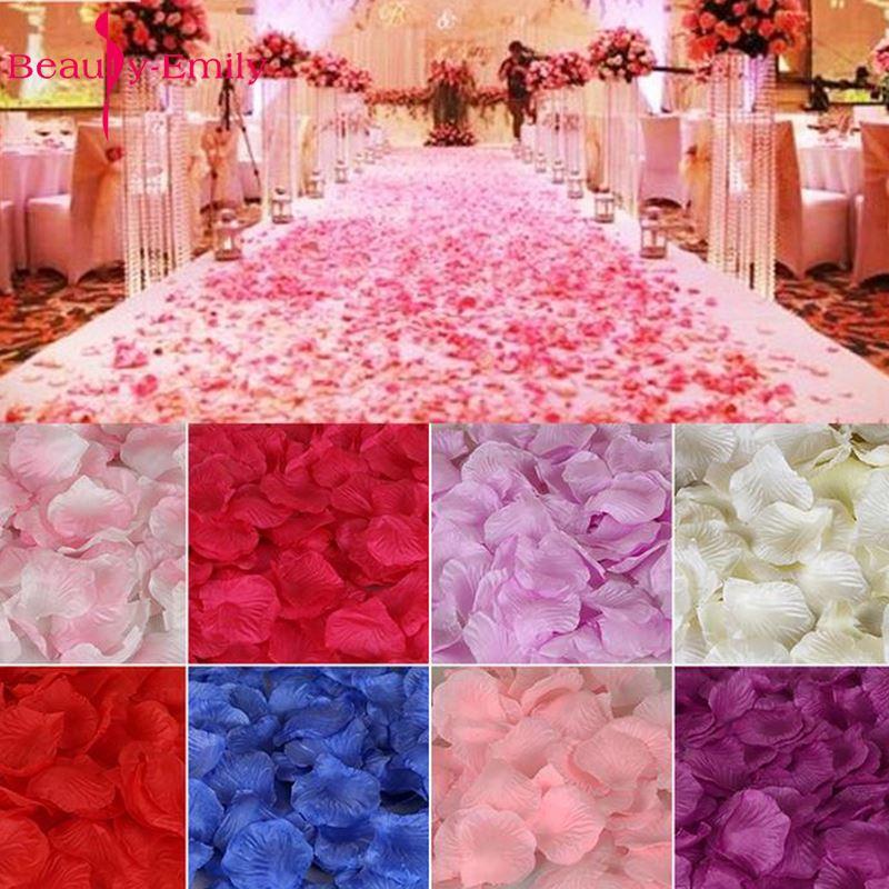 5000 piece/lot 5*5cm Romantic silk Rose petals for Wedding Decoration Artificial Petals Flower