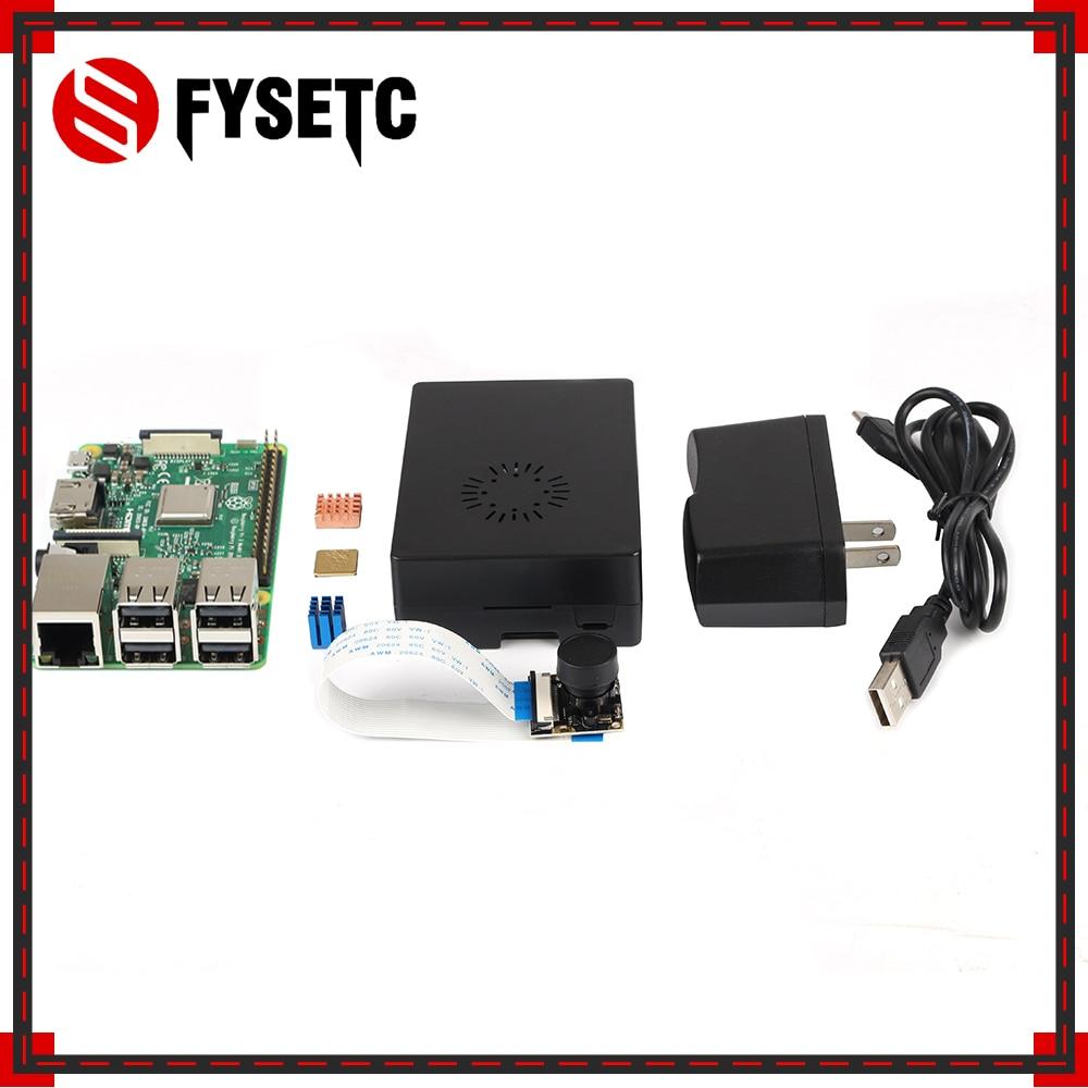 Raspberry Pi 3 Model B Board + Heatsink + ABS Case /Alicylic Case + 5V 2.5A US Power Supply + 5MP Megapixel Night Vision Camera