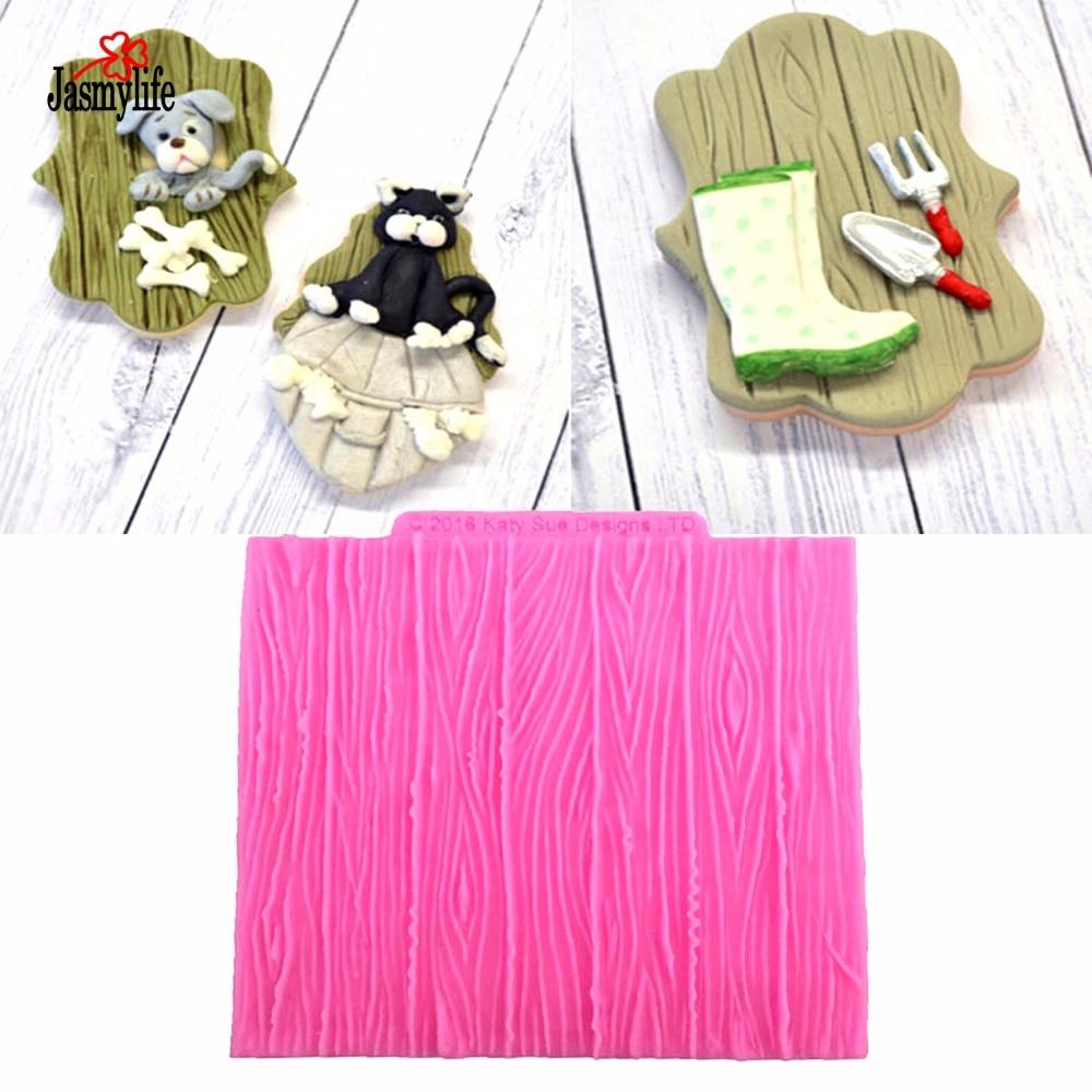 Molde de silicona con diseño de corteza de pastel Fondant, goma de rayas con arrugas de árbol, pasta y artesanía de azúcar, moldes de decoración DIY, herramientas para hornear pasteles