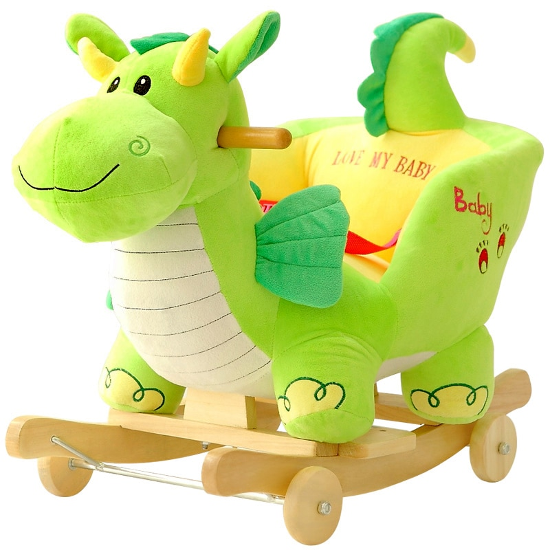 Baby swing Plush Horse Toy Rocking Chair Baby Bouncer  baby Swing Seat Outdoor Baby Bumper Kid Ride On Toy Rocking 16917