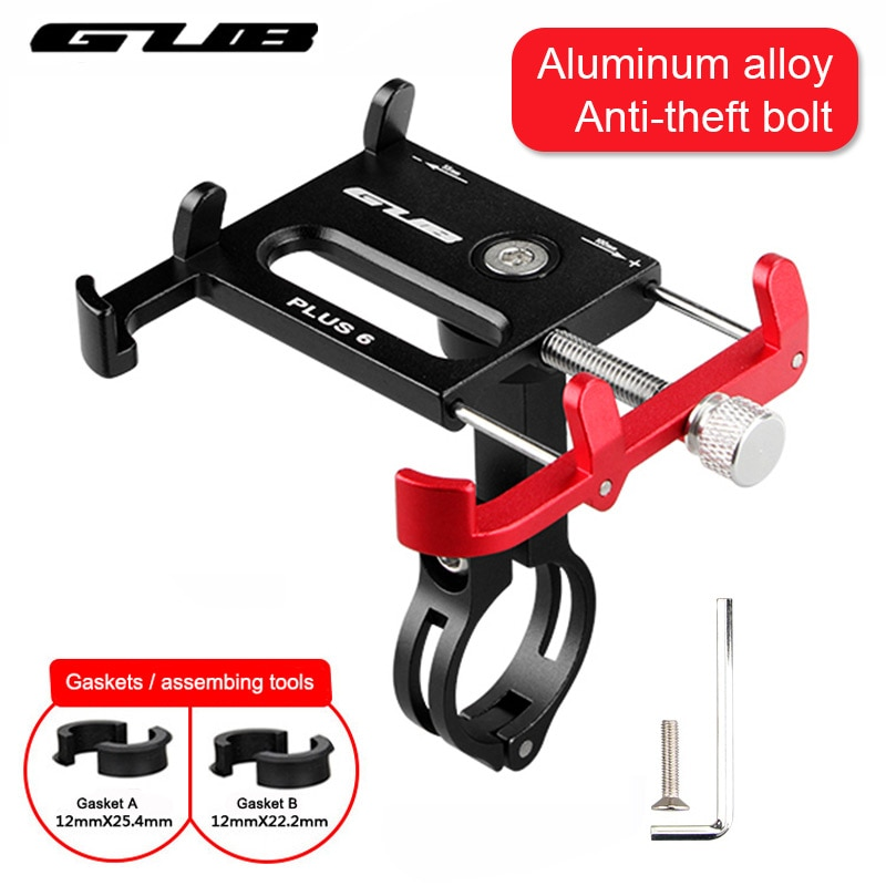 GUB bicicleta GPS montura para teléfono móvil soporte para teléfono soporte deporte ciclismo bicicleta soporte de aleación de aluminio 55-100mm ajustable