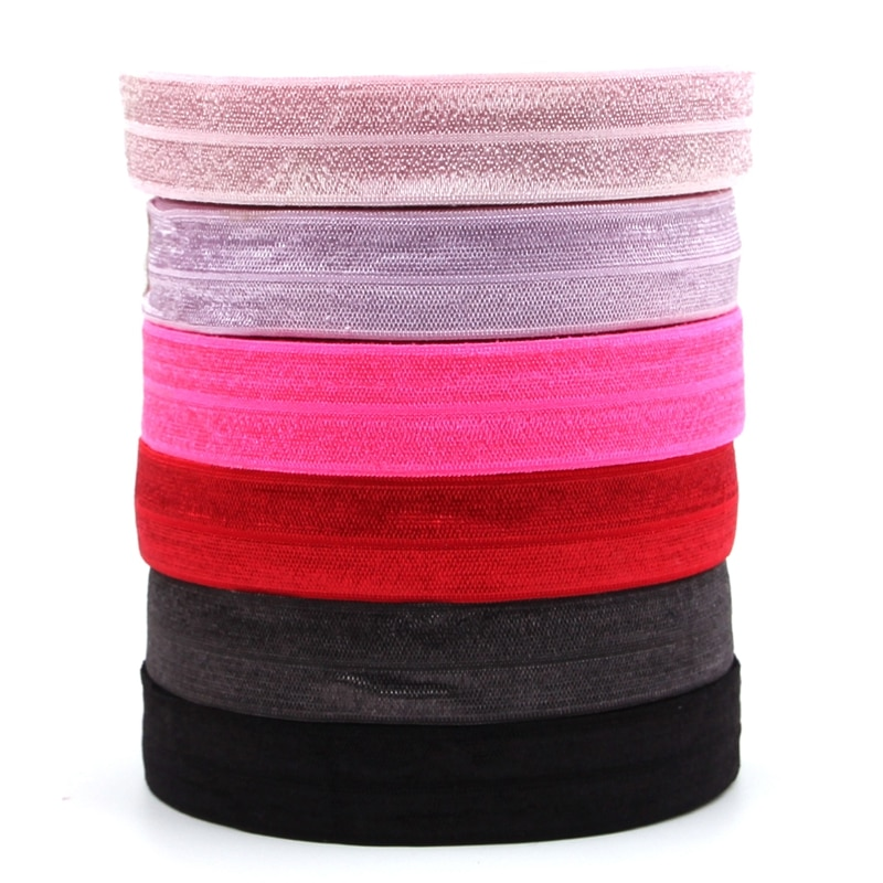 10 jardas/lote 20mm Largura Fita Elástica FOE Elástica para Cabeça DIY Sólida acessórios para o Cabelo 6 Cores Headwear para o Cabelo Nó Laços